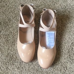 🐒👣 Size 40 Nude Red Bottom BowBack Ballet Flats